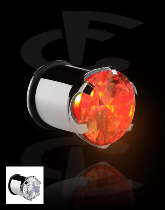 Tunnel & Plug, LED Plug, Acciaio chirurgico 316L