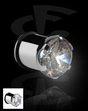 Tunele & plugi, Plug z diodą LED, Surgical Steel 316L