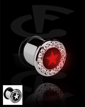 Tunnels & Plugs, Plug LED , Acier chirurgical 316L