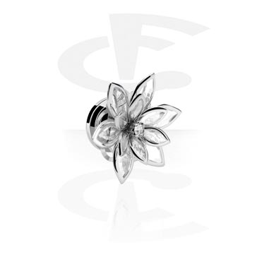 Tunnels & Plugs, Tunnel with flower attachment, Surgical Steel 316L