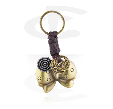 Keychains, Keychain with bow, Alloy Steel, Leather