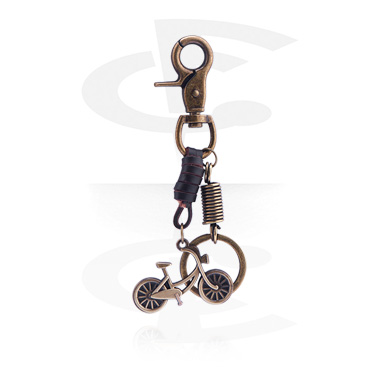 Keychains, Keychain with bicycle, Alloy Steel, Leather
