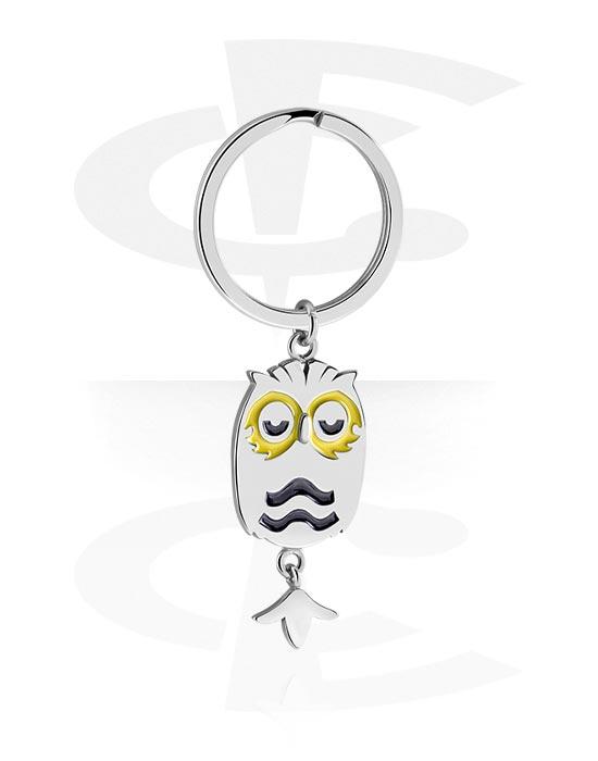 Avaimenperät, Keychain kanssa Owl Design, Kirurginteräs 316L