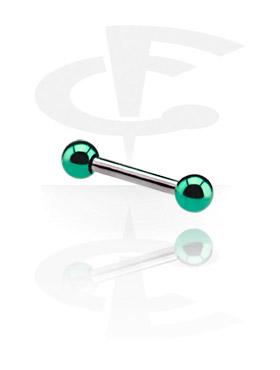 Barbell, Micro Barbell con Anodised Balls, Chirurgico acciaio 316L