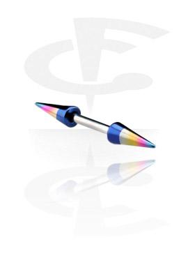 Micro Barbell mit eloxierten Long Cones