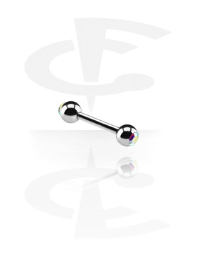 Barbells, Barbell with Jewelled Balls, Surgical Steel 316L