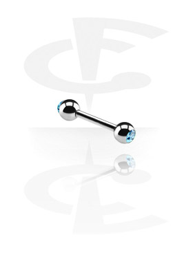 Double Jeweled Micro Barbell