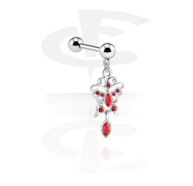 Sztangi, Barbell with Charm, Surgical Steel 316L