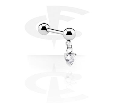 Barbellit, Barbell with Charm, Surgical Steel 316L