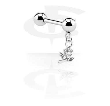 Barbell, Micro Barbell con Charm, Chirurgico acciaio 316L