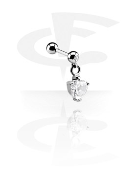 Jeweled Micro Barbell con Charm