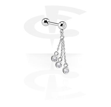 Činky, Barbell with Charm, Surgical Steel 316L