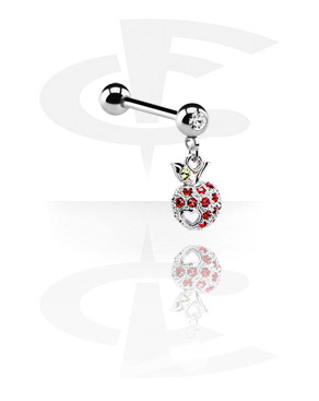 Jewelled Barbell with Charm