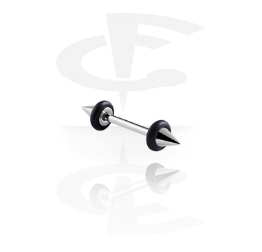 "Barbellit, Barbell with ""UFO""-Cones, Surgical Steel 316L"