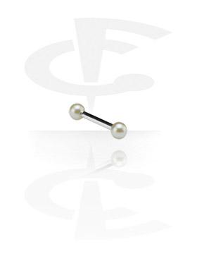 Barbell con perlas sintéticas