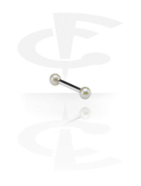 Barbell with Synthetic Pearls