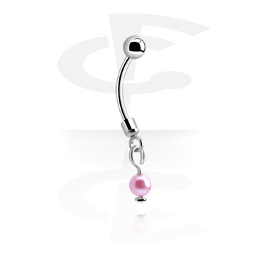 Curved Barbells, Banana with pendant, Surgical Steel 316L