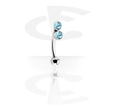 Jewelled Curved Barbell
