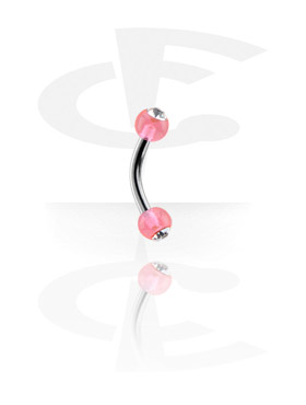 Curved Barbells, Micro Jeweled Banana, Surgical Steel 316L, Acryl