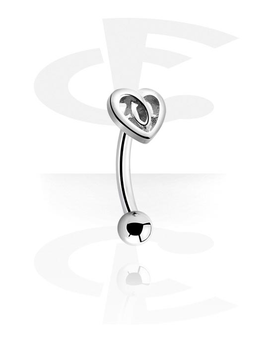 Curved Barbells, Fashion Banana, Chirurgisch staal 316L