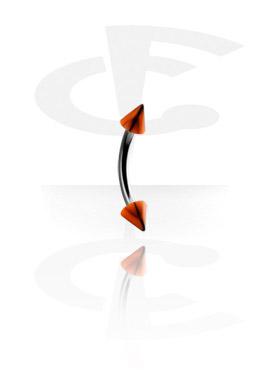 1,2 mm bøyd barbell med basketball-cones