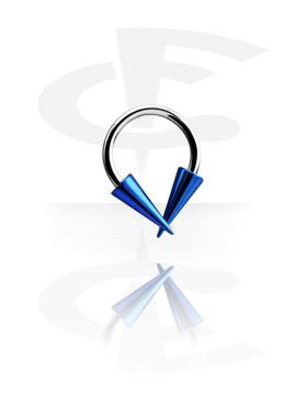 Micro Circular Barbell avec Anodised Long Cones