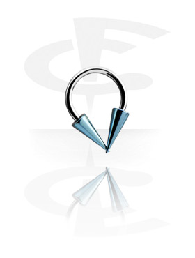 Micro Circular Barbell com Anodised Long Cones