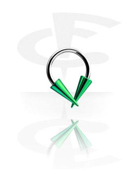 Circular Barbell, Micro Circular Barbell con Anodised Long Cones, Chirurgico acciaio 316L