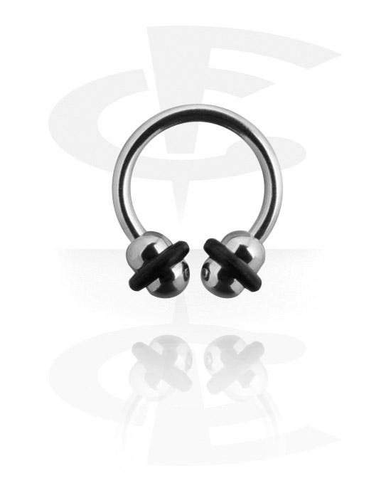 Kruhové činky, Circular barbell, Chirurgická ocel 316L