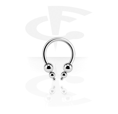 Podkówki, Micro Circular Barbell with Pyramids, Surgical Steel 316L