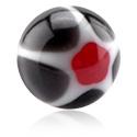 Kuličky a náhradní koncovky, Micro Glittering Murano Ball, Acryl