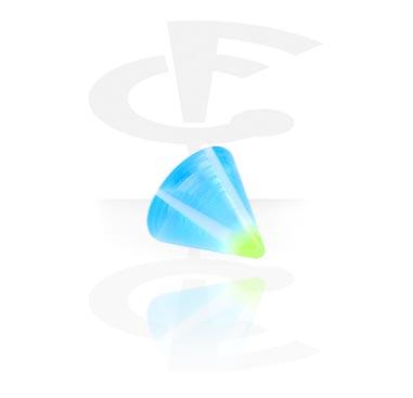 1,2 mm cone i glitrende muranoglass