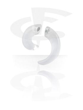 Fake Piercings, Magnetic Spiral (no ear piercing needed), Acryl