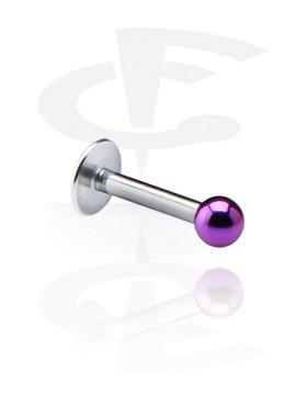 Labreta 1,2 mm s eloxovanou kuličkou se závitem