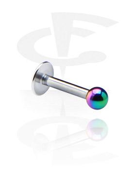 Labrets, Labret de 1.2 mm avec boule anodisée, Acier chirurgical 316L