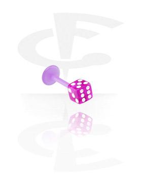 Fleksibilni labret od 1,2 mm s kockom
