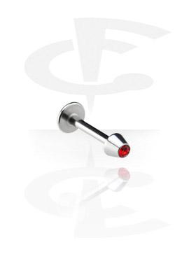 Labrets, Micro Labret mit Kristallsteinkegel, Chirurgenstahl 316L