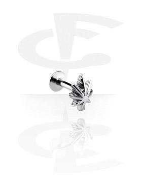 Labrets, Micro Labret avec Steel Cast Attachment, Acier chirurgical 316L