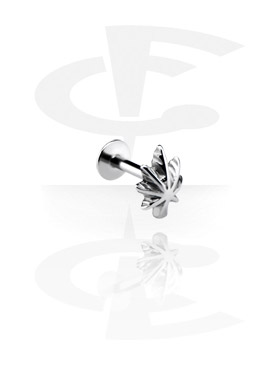 Micro Labret met Steel Cast Attachment