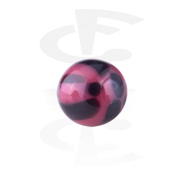 Balls & Replacement Ends, Threaded Ball - Leopard, Acryl