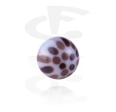 1,2mm kulička se závitem – leopardí vzor