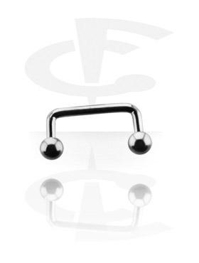 Barbells, Long Staples Micro Barbell 90 degree, Titanium