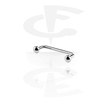 Barbells, Long Staples Micro Barbell mit Scheibe 90 Grad, Titan