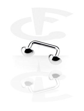 Barbells, Long Staples Micro Barbell con Half Balls 90 degree, Titano