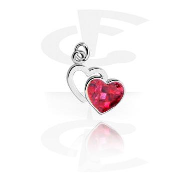 Charm for Charm Bracelet com Heart Design