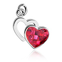 Balls & Replacement Ends, Charm for Charm Bracelet with Heart Design, Plated Brass