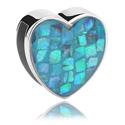 Beads Plats, Perle plate à passant pour bracelet plat, Acier chirurgical 316L