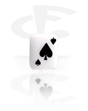 Boules et Accessoires, Spades Playing Card, Acrylique