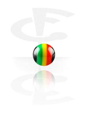 Pallot ja koristeet, Micro Rasta Ball, Acryl