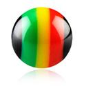 Balls & Replacement Ends, Micro Rasta Ball, Acrylic